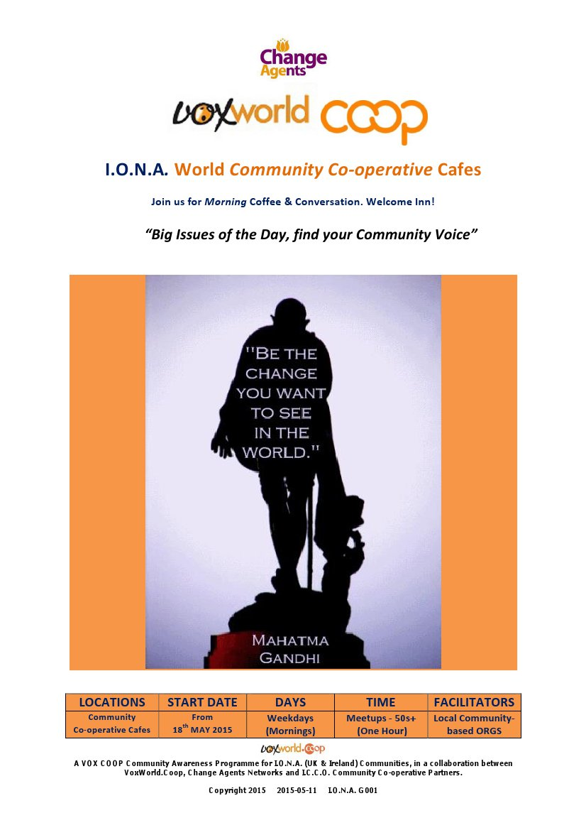 Customisable World Community Co-operative Cafes - the Poster & Community Awareness programme