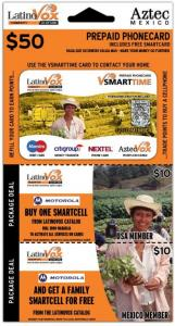LatinoVox Smart Time Vouchercard Set Design
